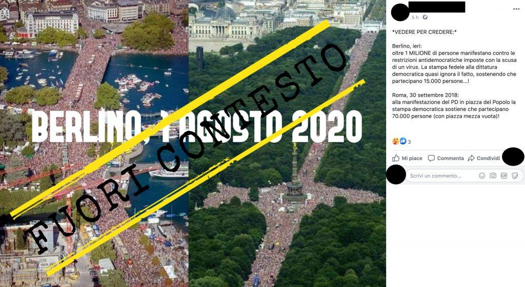 No, queste foto non mostrano la manifestazione di Berlino contro le restrizioni per la pandemia
