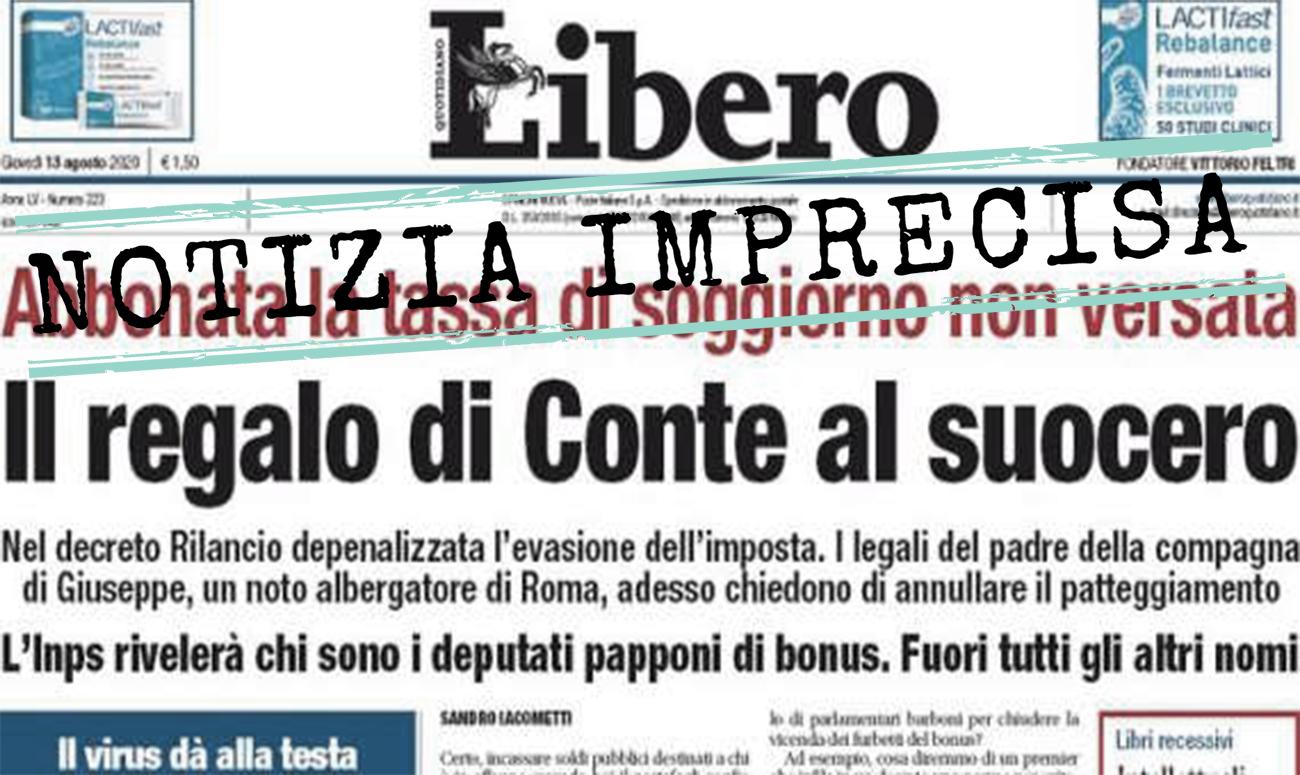No Giuseppe Conte Non Ha Abbuonato La Tassa Di Soggiorno Non Pagata Dal Suocero Facta