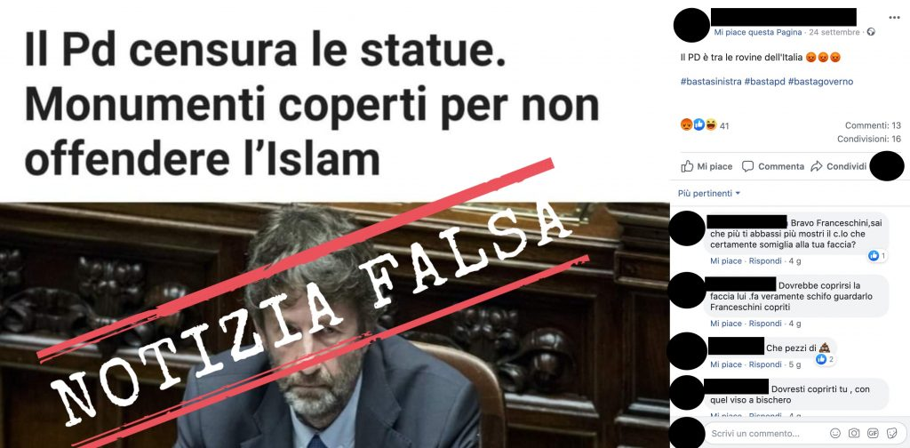 Non è vero che con la Convenzione di Faro le statue vengono censurate