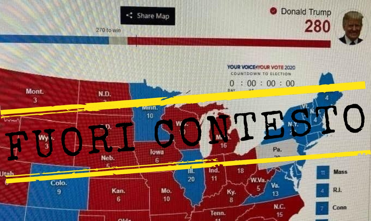 Usa Stati Cartina.Questa Cartina Elettorale Non Mostra I Risultati Delle Elezioni Presidenziali Del 2020 Negli Stati Uniti Facta