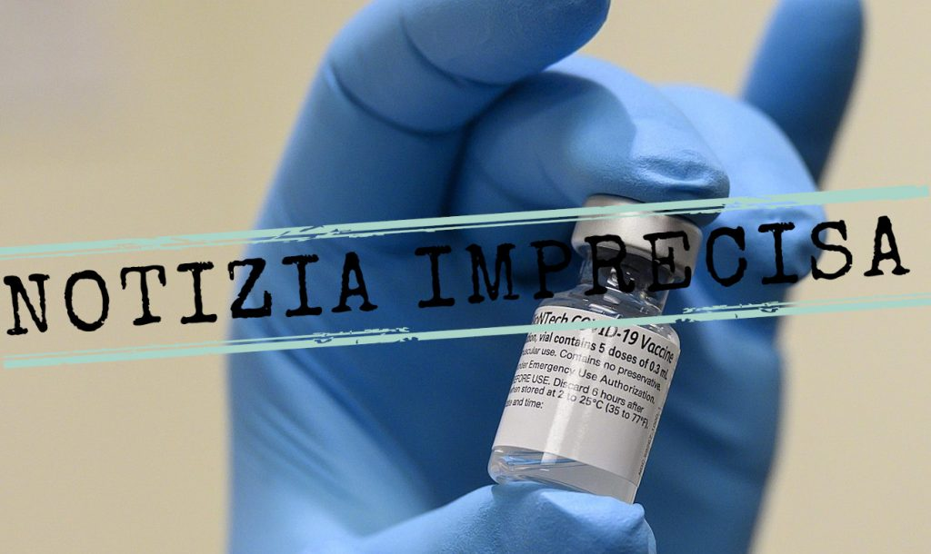 vaccino pfizer notizia imprecisa